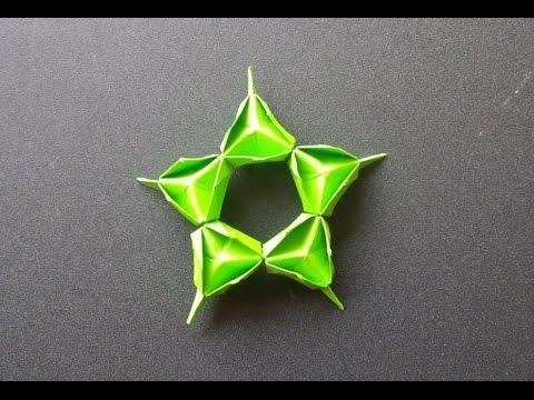 Papercraft paper star- origami tutorial