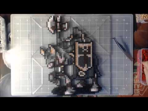 Perler Time Lapse - Fire Emblem: Sacred Stones - Great Knight Duessel