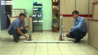 Как работает кабельный домкрат? Видео(Как работают кабельные домкраты (домкраты для кабельных барабанов) производства Katimex (Германия)? Описания..., 2013-10-31T07:46:33.000Z)