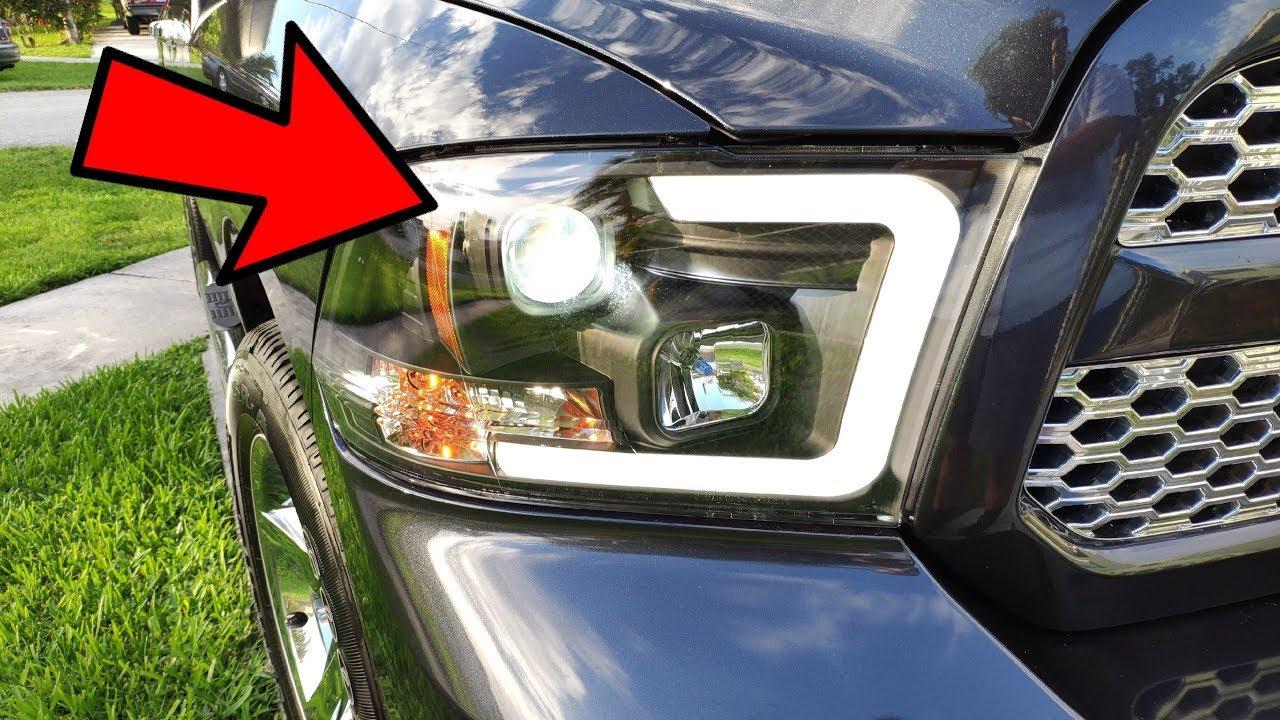Oled Tube Headlights Led Fanless Bulb Upgrade Ram 1500 14 17