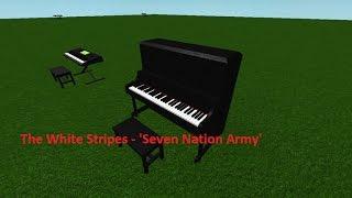 roblox Piano Keyboard v1.1 Die weißen Streifen - 'Seven Nation Army'