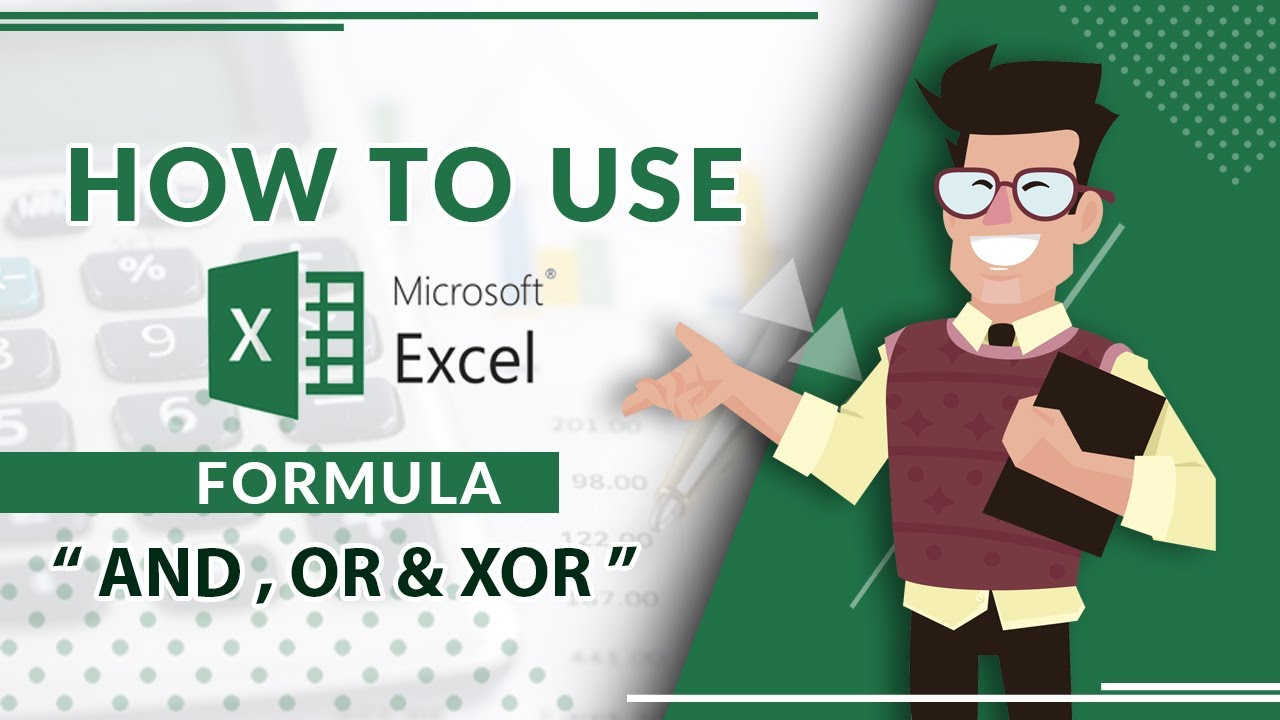 How to Use AND, OR & XOR Excel Formula in Urdu   YouTube