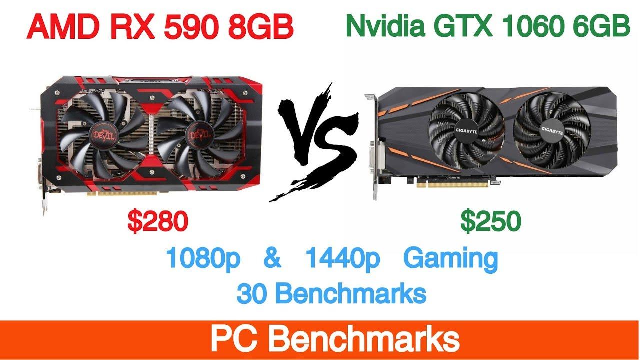 Amd Radeon Rx 590 8gb Vs Nvidia Gtx 1060 6gb 30 Benchmarks Youtube