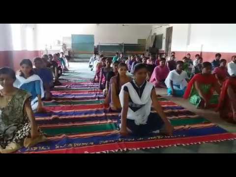 Yoga day at SRI VANI JT.COLLEGE, JAGTIAL