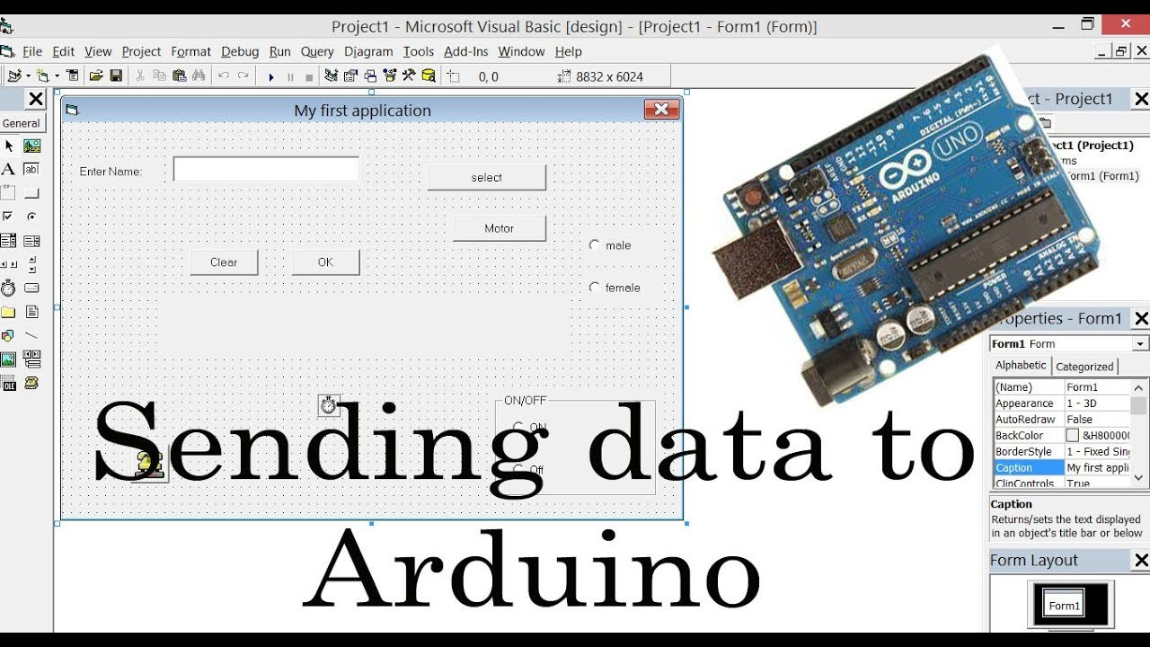 Visual Basic and Arduino Part #3: Send data to Arduino from computer using  serial communication