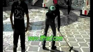 جمهور الاتحاد  ينظم حملة نظافة وتجميل النادي