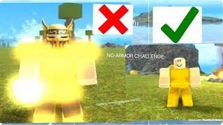ROBLOX Booga Booga | FIGHTING TRIBES WITH NO ARMOR!!! (NO ARMOR CHALLENGE!)
