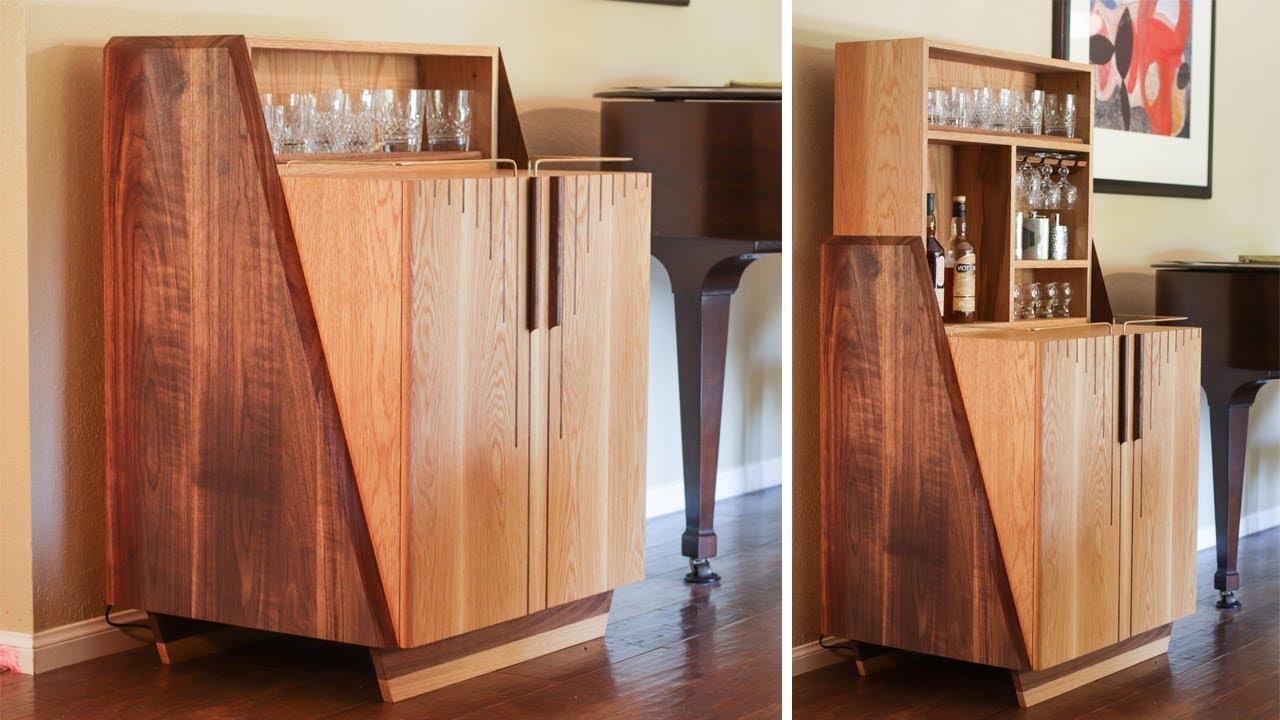 Modern Liquor Cabinet With Hidden