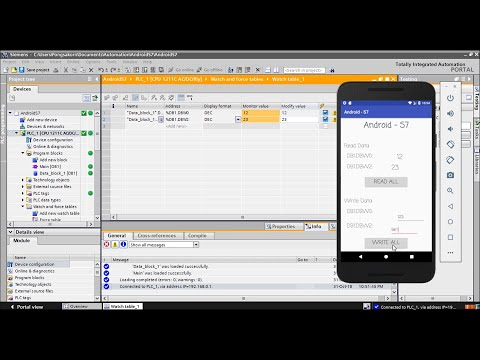 Android App - Linked With Siemens PLC (Tutorial)