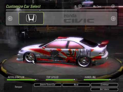 NFSU2  Honda Civic Monster Tuning  YouTube