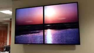 DIY 2x2 video wall using VLC player(A DIY video wall I created for NEW College, using 4 off the shelf LG TVs, VLC and an entry level quad output graphics card. The footage you see on the wall was ..., 2013-11-04T22:21:35.000Z)