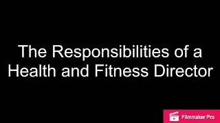 Health and Fitness Director