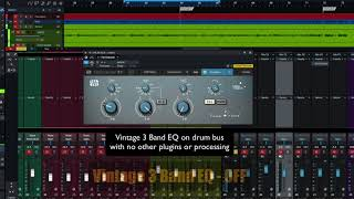 PreSonus Fat Channel Plug-in Demo: Vintage 3 Band EQ