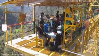 My bungee jump at rishikesh Jumpin  Heights