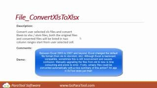 Excel: Convert .xls files to .xlsx files