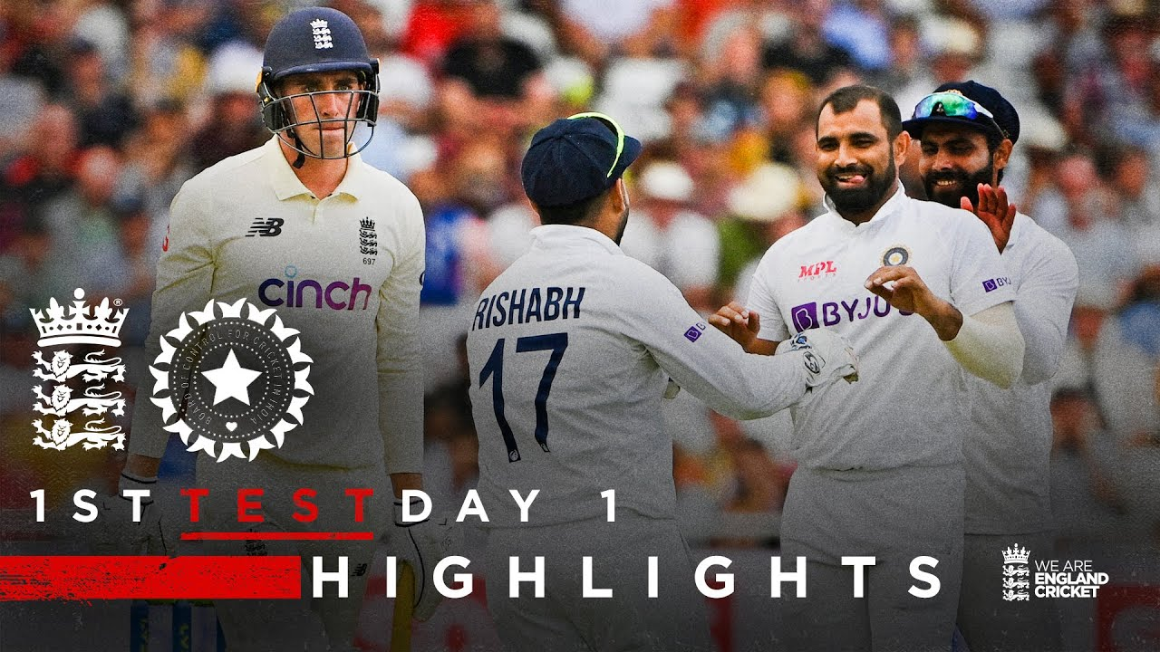 Download England Bowled Out For 183   England v India - Day 1 Highlights   1st LV= Insurance Test 2021