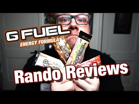 Rando Reviews #6 - G-Fuel Energy Drink for Gamers
