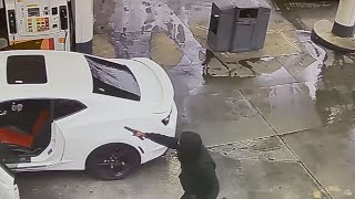 Video shows Atlanta gas station theft during COVID-19 pandemic