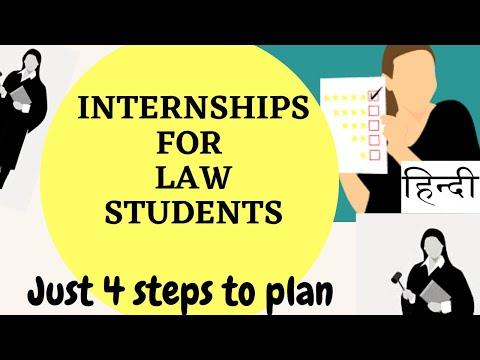 Internships for law Students/ Plan Law Internships