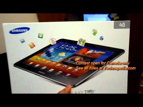 Canada Samsung Galaxy Tab 10.1 4G Giveaway