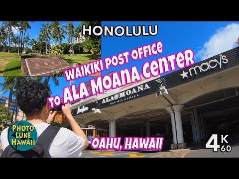 Waikiki Post Office To Ala Moana Center 4K60