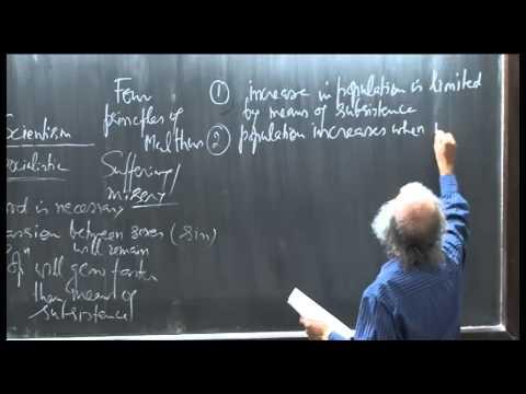 Mod-01 Lec-34 Population-I: Malthusian theory of population