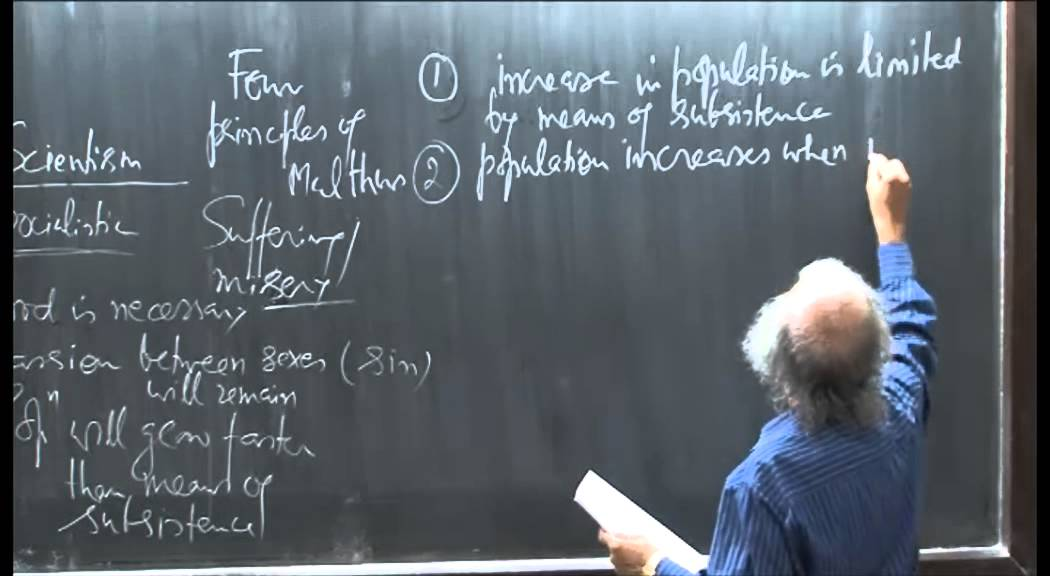 Mod-01 Lec-34 Population-I: Malthusian theory of population