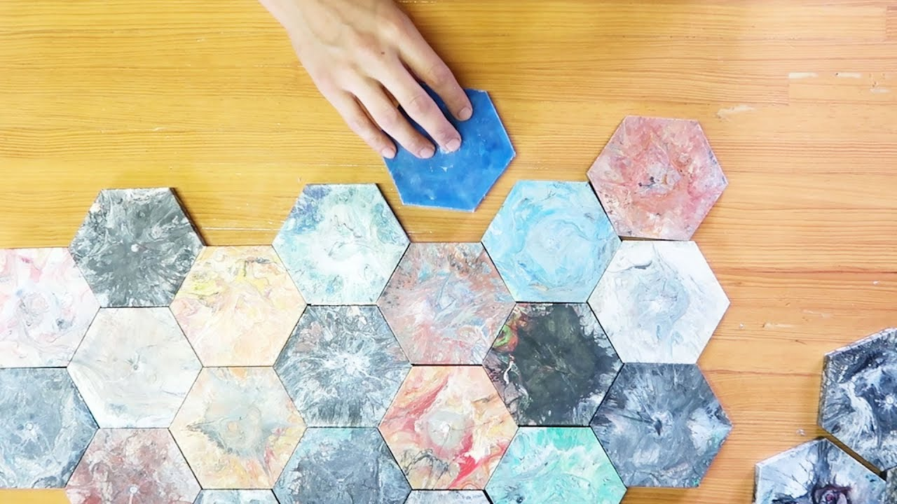 Colourful Tiles From Plastic Waste