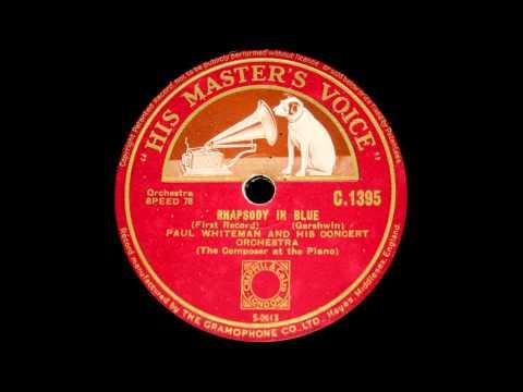 Gershwin plays Gershwin Rhapsody in Blue (1927)