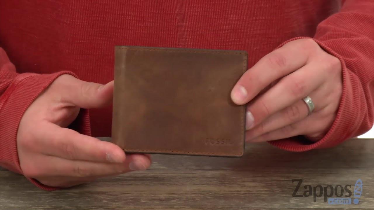 Fossil Men/'s Derrick Front Pocket Bifold Leather Wallet