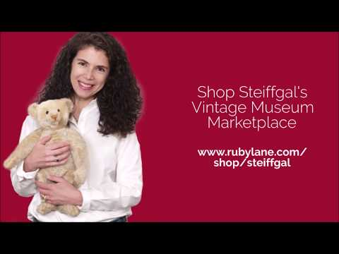 Learn About RARE Steiff Teddy Bears With Steiff Gal And Ruby Lane Dolls