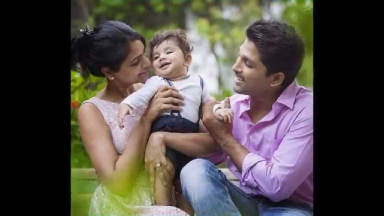 Allu Arjun Son Allu Ayaan Latest Photos - Allu Arjun and Sneha Reddy ...