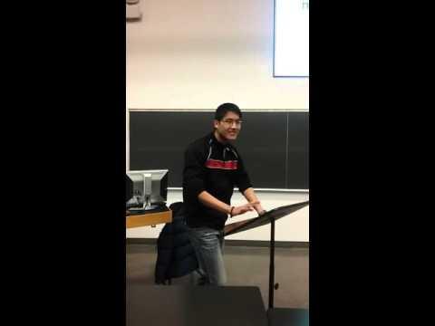 1 min in class impromptu speech (to class)