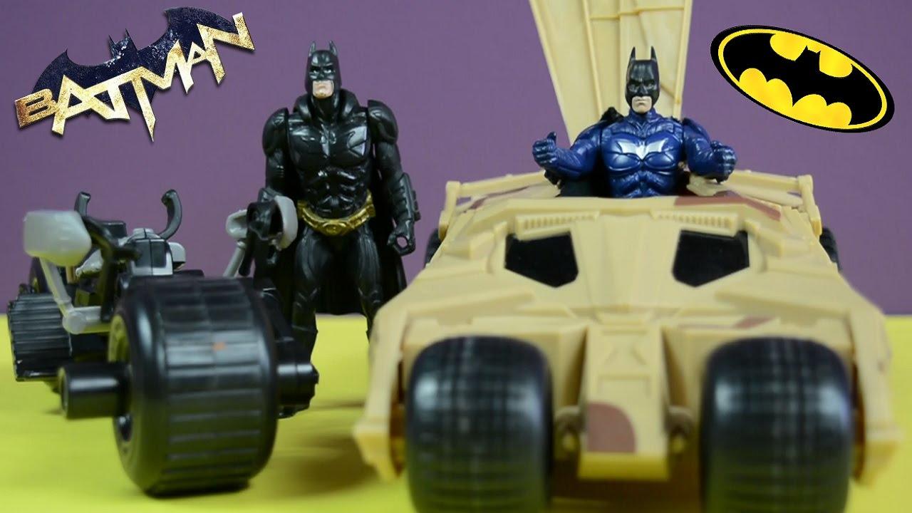 Batman Coche Y Moto De Batman Juguetes Youtube