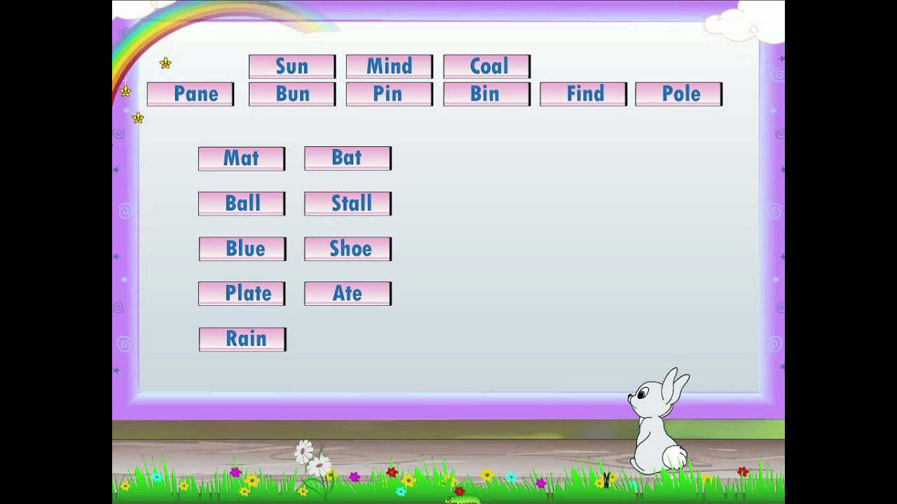small resolution of Learn Grade 2 - English Grammer - Rhyming Words - YouTube