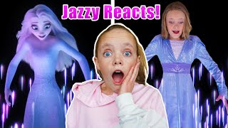 Frozen 2, Show Yourself, Jazzy Reacts to her Elsa Cover Song on Kids Fun TV