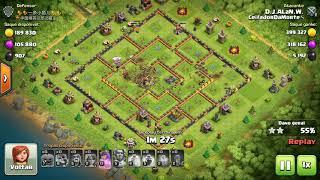 Clash of Clans - CV11 - 100% - BarAboEsqGGWiValk - Atacante: D.J.A.L.a.N.W. - Clã: CeifadorDaMorte