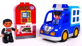 Police Truck Toy Bulding Blocks Playset for Kids Learn Colors