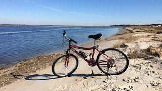 1st Bike Ride of 2015 On Emerald Isle Beach, North Carolina - Jan. 1, 2015