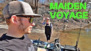 Maiden Voyage of My First Fishing Kayak & The COOLEST Rig I've Ever Seen!