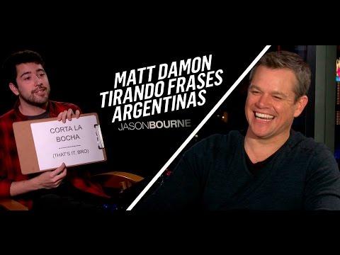JASON BOURNE | Matt Damon dice frases argentinas | Corta la bocha Vamo a Calmarno y más