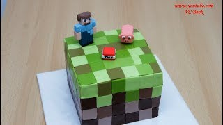 Торт Майнкрафт | Торт Minecraft | Украшение тортов