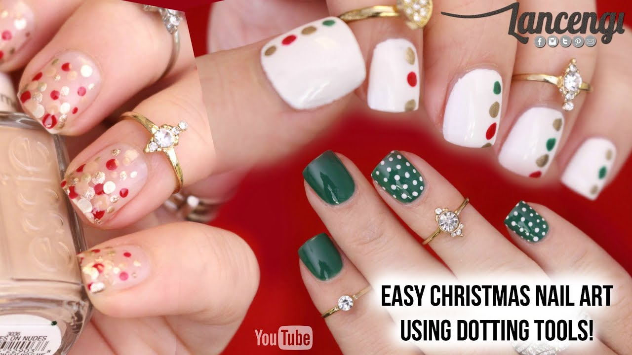 minimalistic christmas nail art designs 36 youtube