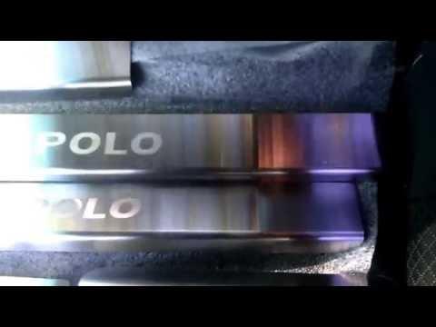 Накладки на пороги Volkswagen POLO V седан с 2009 г. Standart
