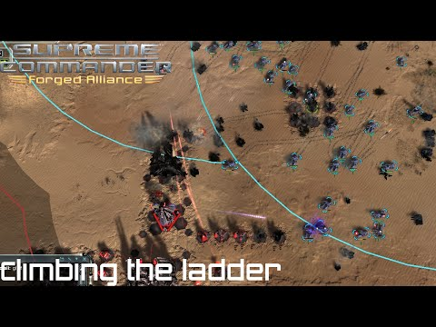 Supreme Commander FAF 1vs1 Multiplayer Gameplay Climbing the Ladder