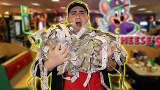 How To Get Unlimited Tickets At Chuck E. Cheese Arcade