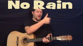 No Rain (Blind Melon) Easy Guitar Lesson Strum Chord Licks How to Play Tutorial