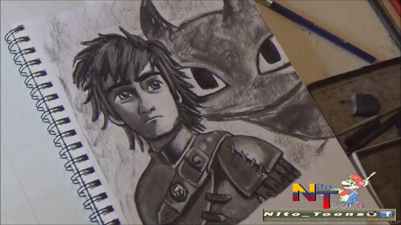 Dibujando a Hipo de como entrenar a tu Dragon (Draw How to train ...