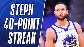 Best Buckets From Steph's 11 Games of 40+ PTS! 👀