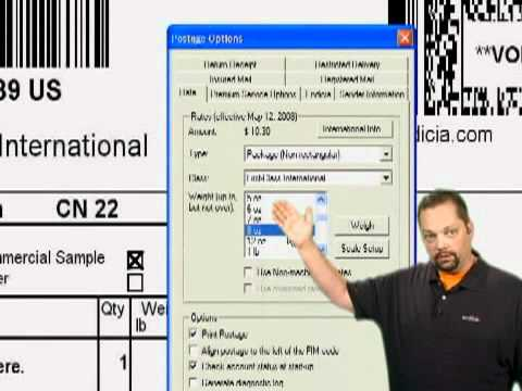 How to Print First Class Mail International Labels with Endicia